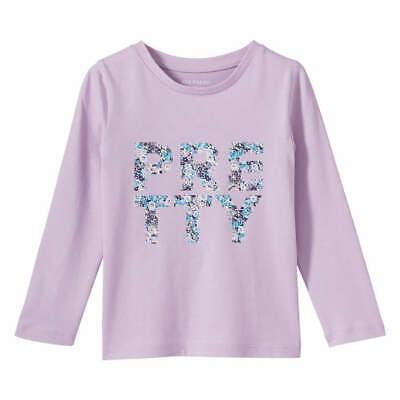 JOE FRESH LILAC GIRLS KIDS SLEEVED PRETTY FLOWER TSHIRT TOP - 2 YRS FREE P&P