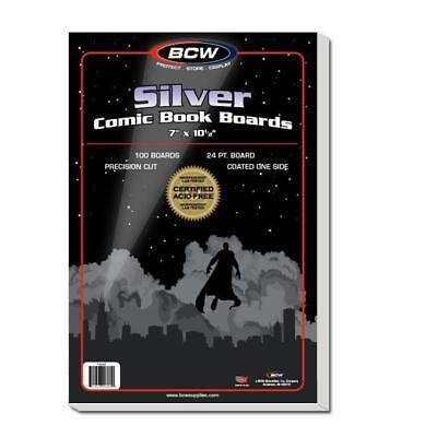100 BCW SILVER AGE  COMIC BOOK BACKER BOARDS