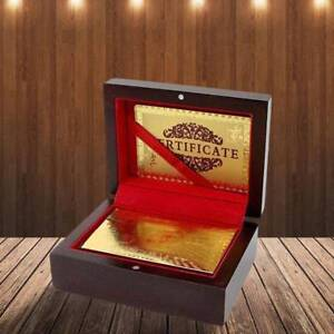 Gold plated playing cards - christmas gift