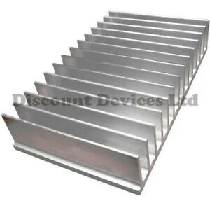 large aluminium heat sink power amplifier supply transistor ic fet pa 62009 ebay. Black Bedroom Furniture Sets. Home Design Ideas
