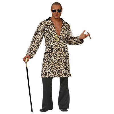 PIMP Hustler Mantel Kostüm für Herren mit Leopardenmuster für - Pimp Kostüm Für Herren