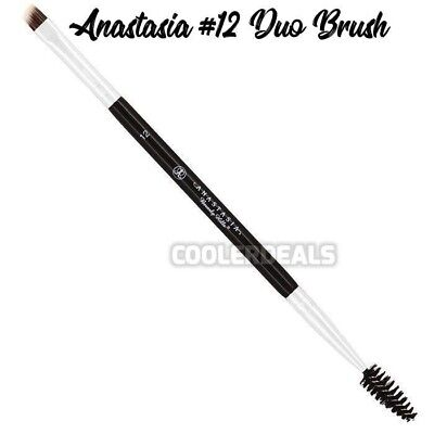 Anastasia Beverly Hills # 12 Duo Angle & Spoolie Eye Brow Makeup Brush Fast Ship