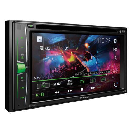 """Pioneer Double 2 Din AVH-210EX RB DVD/MP3/CD Player 6.2"""" Touchscreen Bluetooth"""