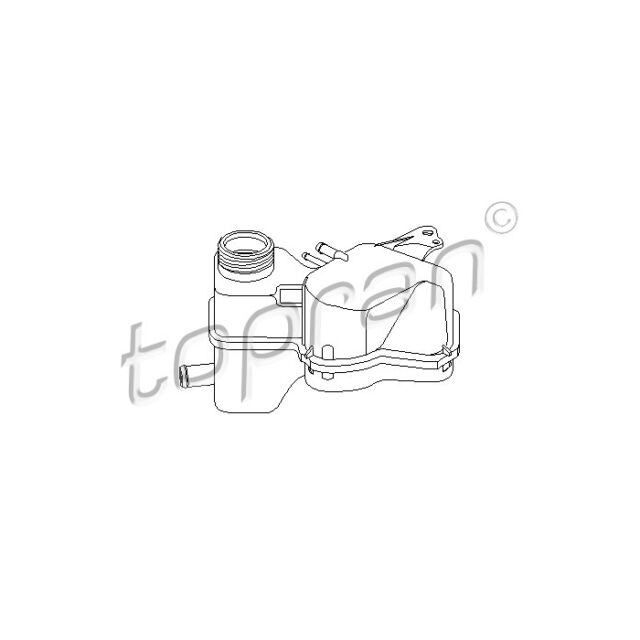 TOPRAN Expansion Tank, coolant 202 255