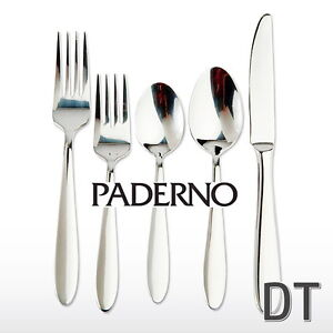 PADERNO BRUDENELL 1810 STN STEEL 20 PC NEW CUTLERY SET $90 OBO