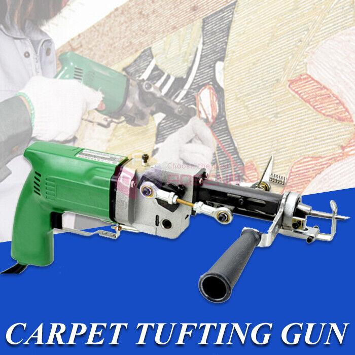 Electric Hand Carpet Tufting Gun Rug Machine Can do Both Cut Pile and Loop Pile