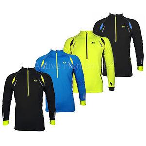 New more mile mens thermal long sleeve high viz running for Hi viz running shirt