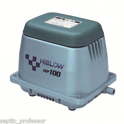 HIBLOW HP-100-LL LONG LIFE HD NEW SEPTIC AIR PUMP POND AERATOR DIY