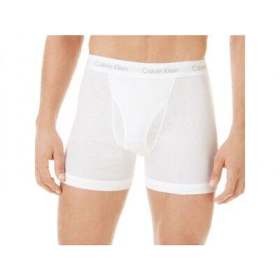 One(1) Calvin Klein 100% Cotton Boxer Briefs, White, Size M, NU3019