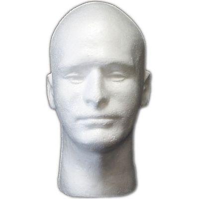 Less Than Perfect Mn-409-ltp 1 Pc Male Styrofoam Foam Mannequin Head