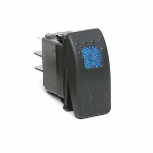 Blue-Rocker-Switch-20-Amp-12-Volt-Boat-Marine-Tige-Bayliner-Rinker-Crownline
