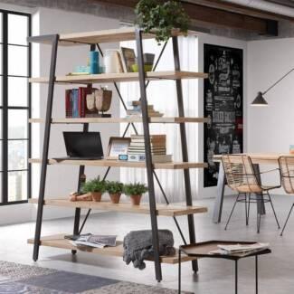 Fabulous Solid Acacia Wood Bookcase Shelving Shelf Unit - New
