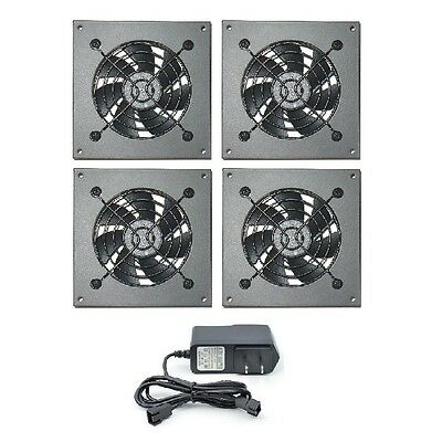 PROCOOL AVM-480T Silent 4 fan cabinet cooling system with mounting plates for sale  Shipping to India