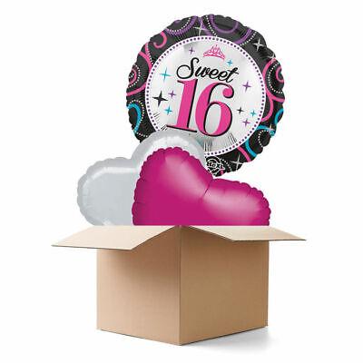 Ballongrüsse Happy Birthday, Sweet 16th Ballongeschenk Überraschung Heliumballon ()