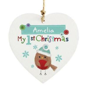 personalised wooden decorations - Ebay Christmas Decorations