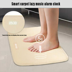 2020 NEW Smart Alarm Clock Pressure Sensitive Digital Clock Mat Floor Rug Carpet