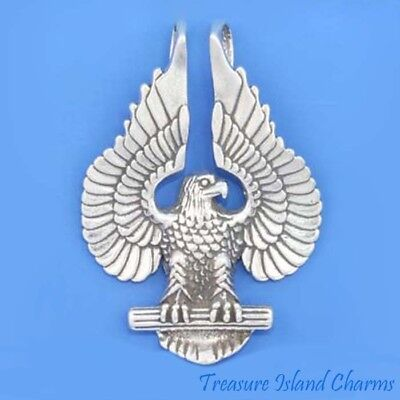 American Bald Eagle .925 Sterling Silver Pendant MADE IN USA