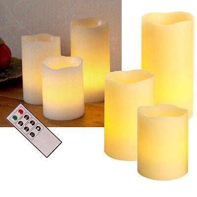 3er Set LED Candele con Telecomando Timer Dimmerabile senza Fiamma Tremolante