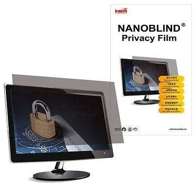 """21"""" inch WIDE  NANOBLIND Privacy Screen Filter for PC LCD Mo"""