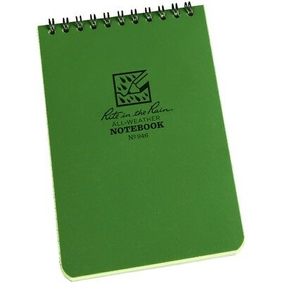 Rite In The Rain 946 All-weather Universal Spiral Notebook Green 4 X 6