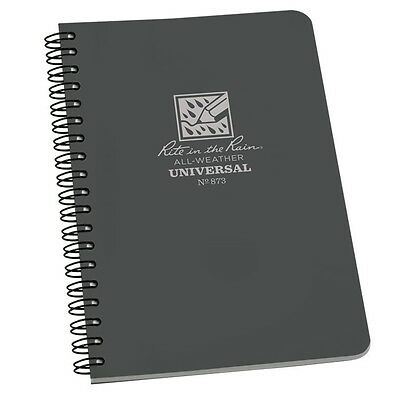 Rite In The Rain 873 All-weather Universal Spiral Notebook Gray