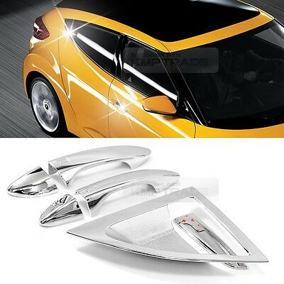 Chrome Door Catch Handle Molding Cover Garnish for HYUNDAI 2011-2017 Veloster