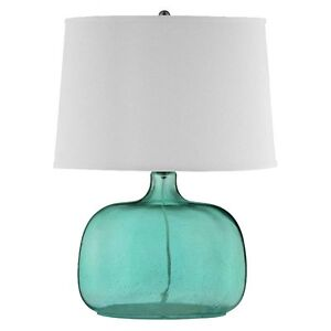 Selling two blue accent table lamps