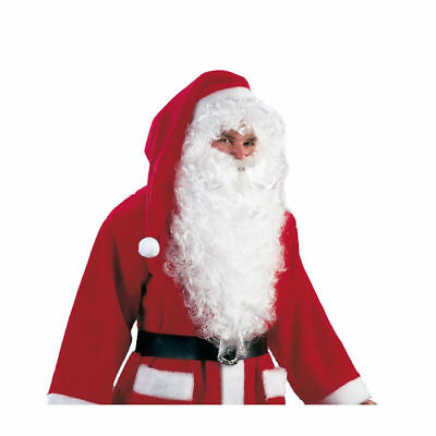 Perücke Nikolaus, weiß Nikolausperücke Weihnachtsmannperücke