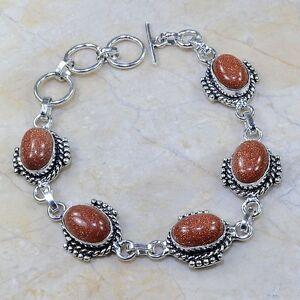 Bracciale in argento tibetano e pietre sole Sitara - (BR32/I) - Italia - Bracciale in argento tibetano e pietre sole Sitara - (BR32/I) - Italia