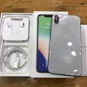 Excellent  Unlocked Iphone X 25GB Black Silver For Sale