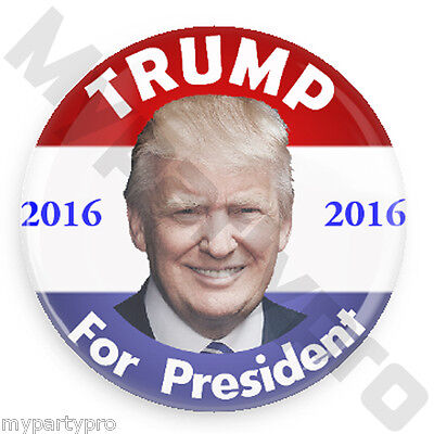 "2016 DONALD TRUMP for PRESIDENT 2.25"" CAMPAIGN BUTTON, 6ct Badge set Free Ship"