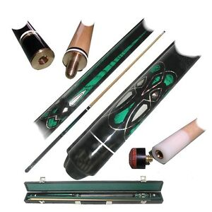 Emerald-Green-Laser-Designer-Billiard-Pool-Cue-Stick-19-20-oz