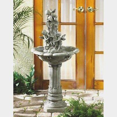 Cherubim Cascades Water Fountain Outdoor Garden Yard Decor   New
