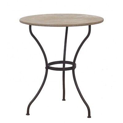 eisen tisch rund gartentisch metall terassentisch antik gr n garden table green gartenm be. Black Bedroom Furniture Sets. Home Design Ideas