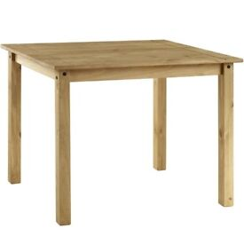 Corona Mexican Solid Pine Wooden Rectangle 4 Seater Dining Table