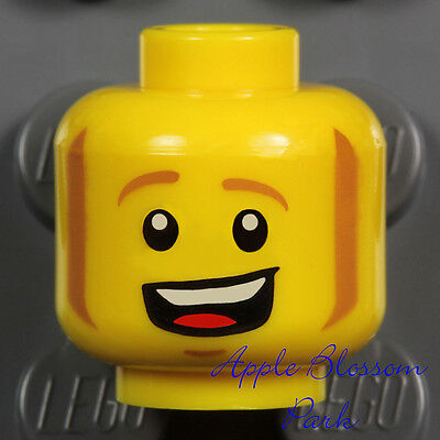 NEW Lego Pirate MINIFIG HEAD w//Brown Beard Moustache Kingdoms//Castle Knight