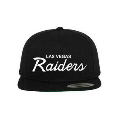 NEW Las Vegas Raiders Script Oakland Football Black Custom Snapback Cap Hat](Custom Raiders Hat)