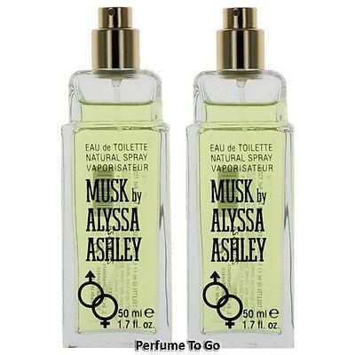 Musk By Alyssa Ashley For Women 1 7 Oz  50 Ml  Edt Spray Tester W O Cap  1 Or 2