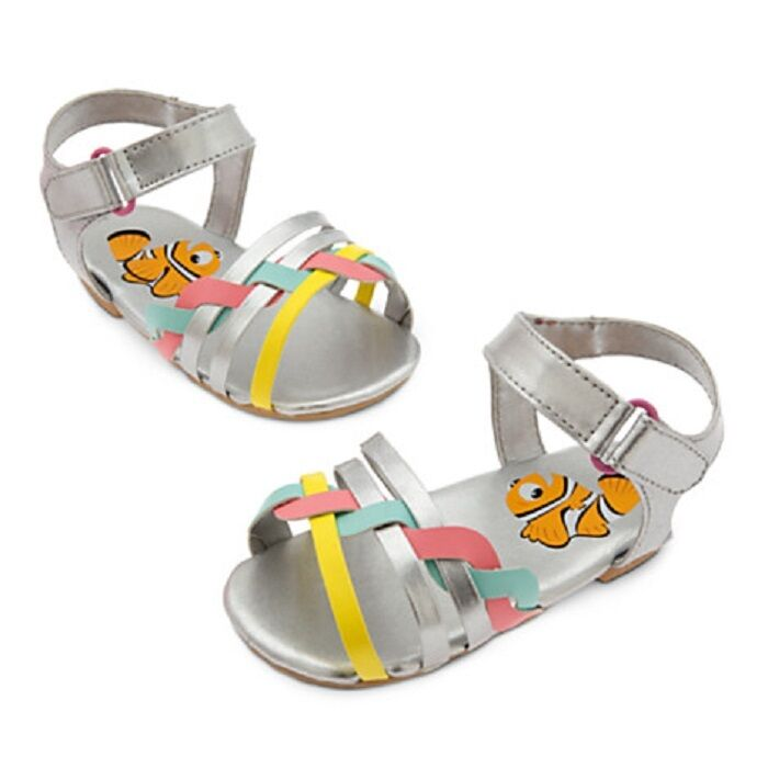 DISNEY STORE FINDING NEMO SANDALS FOR BABY GIRL FASHIONABLY FUN FOOTWEAR NWT