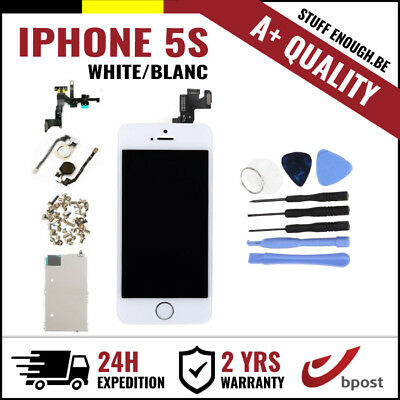 A+ LCD TOUCH SCREEN SCHERM ÉCRAN FULL ASSEMBLY WHITE BLANC + TOOLS FOR IPHONE 5S