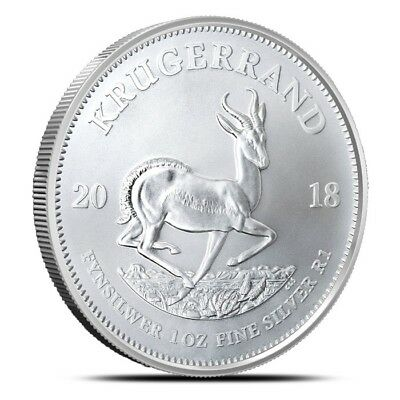 2018 South Africa 1 oz .999 Fine Silver Bullion Krugerrand Coin Gem BU