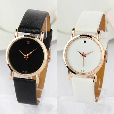 $7.59 - Luxury Stylish Fashion Dot Leather Analog Quartz Lady Girl Women Wrist Watch
