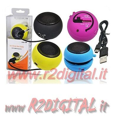 CASE TASCABILI RECHARGEABLE PORTABLE SPEAKER DOCK IPOD IPHONE MP4 MP3 MP5
