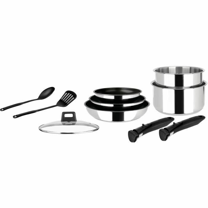 Sitra movible inox poêles casserole batterie 10 pièces inox amovible induction