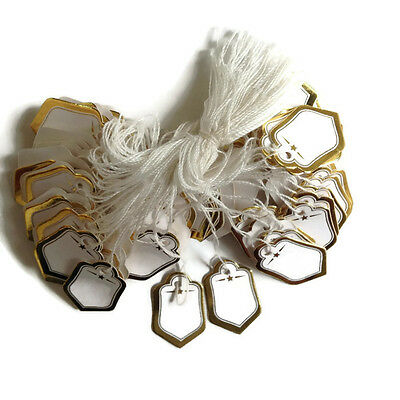 200 Gold Wstring Price Coupon Tag Hang Label Cloth Jewelry Watch Necklace