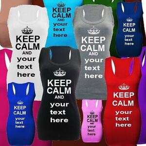 KEEP-CALM-personalised-womens-long-vests-top-dresses