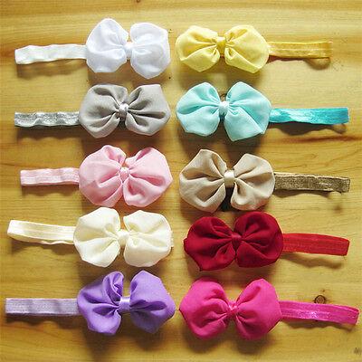 Cheap Wholesale 10pcs Baby Girl Newborn Chiffon Bowknot Headbands Cute Hair - Cheap Headbands