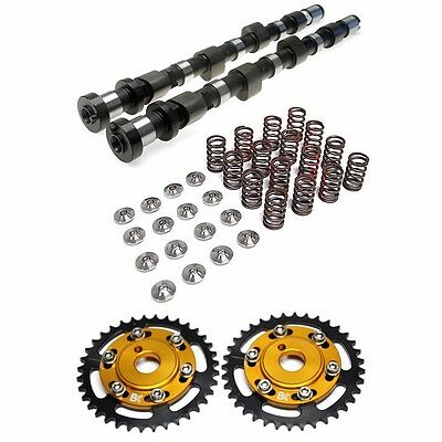 Valve Train Package - BRIAN CROWER STAGE 2 BC S2 CAMS GEARS VALVESPRINGS RETAINERS FOR NISSAN SR20DET