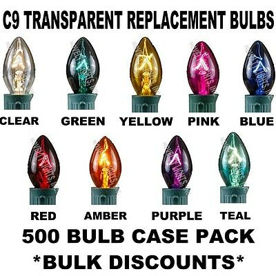 Case 500 C9 Light Bulbs Incandescent Transparent Christmas L