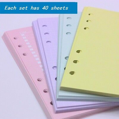 Colorful Refill Refillable Pages For Filofax Organizer Planner Loose Leaf